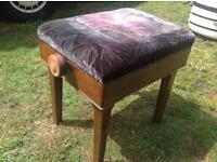 PRICE REDUCED!!!! Piano stool. Adjustable height seat. Full working order. Victorian or Edwardian