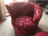 DFS red armchair for sale