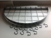 Half Round Wall Pan Rack in Chrome