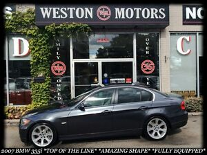 2007 BMW 3 Series TOP OF THE LINE* LEATHER* SUNROOF* BLUETOOTH