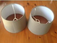 2 Grey Lampshades. Collection only NN3