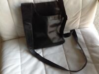 New black leather bag from John Lewis collection, long strap