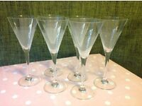 6 Martini/cocktail Glasses £8