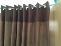 """2 pairs of heavy weight curtains leatherette and suede like new 90"""" X 90"""""""