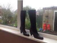 Marks & Spencer black leather boots