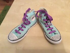 All star converse bling hi tops size 1