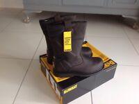 Dewalt steel toe cap boots size 10