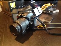 Nikon digital d3200 camera with loads of extras including telephoto lens