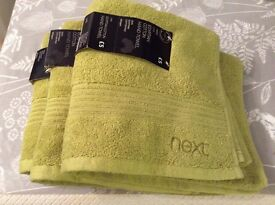 NEXT Egyptian cotton hand towels x3