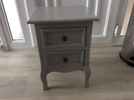 Bedside table in grey