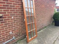 Internal door, with handle and hinges. We just removed it. All fine. Dusty but glass all good.