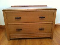 Set of wooden drawers (2 drawers)