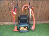 Push along lawnmower ( easy push) 2x strummer and lawn edger all vgc
