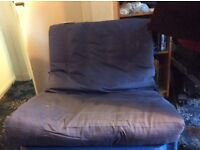 Blue single futon