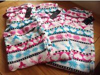 3 Pairs of Fleece Pyjamas Size Small