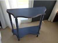 Wooden hall table painted in Annie Sloan paint then hand waxed for protection destressed look