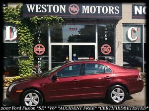 2007 Ford Fusion SE* V6* CERT&ETESTED