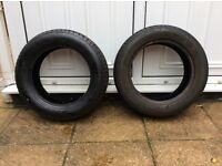 Tyres 195 /60/r15 88h. 2 off..