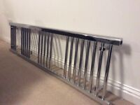 Chrome towel radiator/rail 1600 x 400mm with all 4 wall fittings.