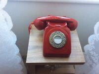 Red Retro GPO Telephone