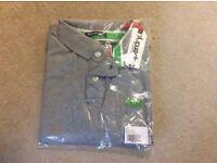 Men's Superdry grey polo shirt XXL brand new