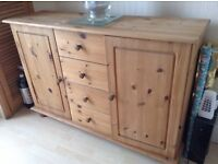 mid pine colour sideboard for dining room or sitting room