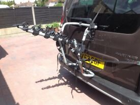 Bicycle /car carrier by Avenir 3 bike capacity 45kg light weight alloy £20