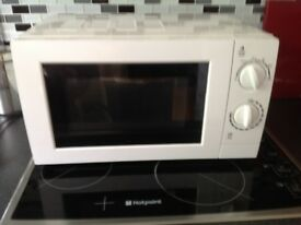 great condition white microwave