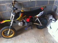 pit bike 125 lifan engine xsport 125 frame fully working (WILL SWAP FOR ON ROAD BIKE, YZ OR CR)