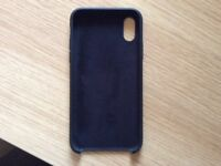 iPhone X genuine apple silicone case in black used once as brand new