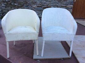 llyod loom wicker chairs x 2