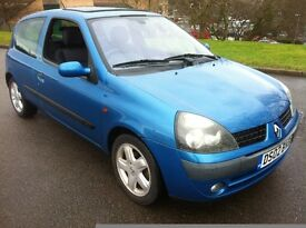 2002 RENAULT CLIO DYNAMIQUE DCI 80 £30 ROADTAX **EXCELLENT CONDITION** MOT APRIL