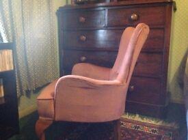 Edwardian fireside armchair