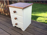 Pine Painted Bedside drawer