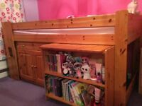 Stompa cabin bed with pull out desk