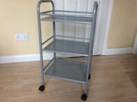 Metal kitchen storage/utility trolley
