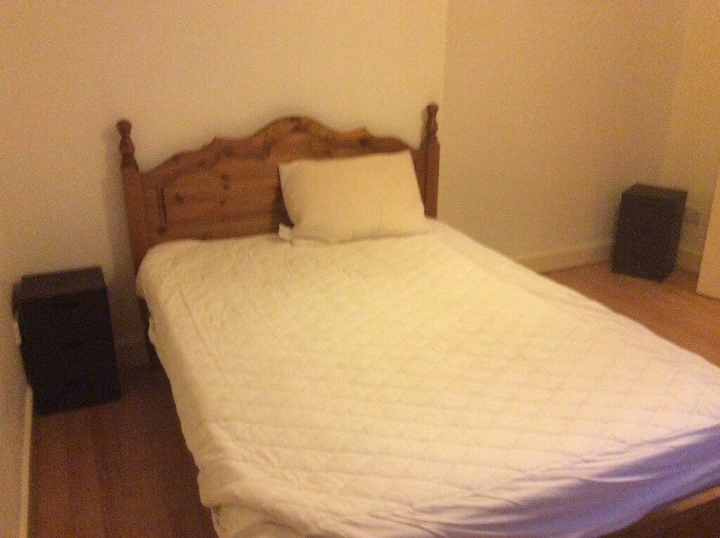 Pine double bed frame and head board pine