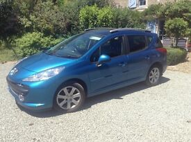 2007 Peugeot 207SW 1.6L HDi 90bhp. Economical low mileage station wagon.