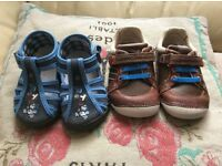 Clarks boots size 4.5f/ eu 20.5 and slippers size 20 perfect conditions