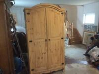 Lovely Mexican Pine wardrobe ex condition £75