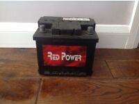 Red Power Car Battery Good Working Condition