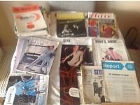 Over 30 Vintage fashion magazines from 1966 onwards . Tell all fashion/ arts students.