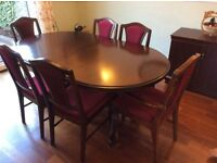 Rossmore dining table with 6 chairs.