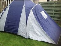 6 man tent with awning