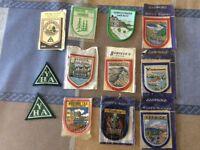 Vintage cloth youth hostel badges