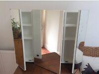 3 Mirrored Door Bathroom Cabinet