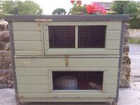Double rabbit/guinea-pig hutch