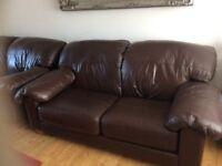 John Lewis 2 Seater Leather Sofas