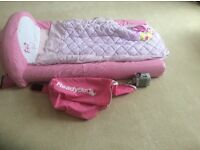 Pink 'Ready Bed' inflatable child's bed suitable for 2-4yr old