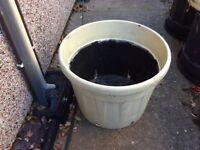 large plastic tubs /planters